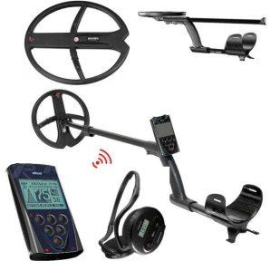 Металотърсач XP DEUS V5 X35 с 22.5см + 34х28см + дистанционно + безжични слушалки WS4