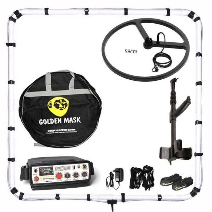 Металотърсач Golden Mask Deep Hunter Pro 3se в комплект 125х125см + 58см и телескопичен стик + раница