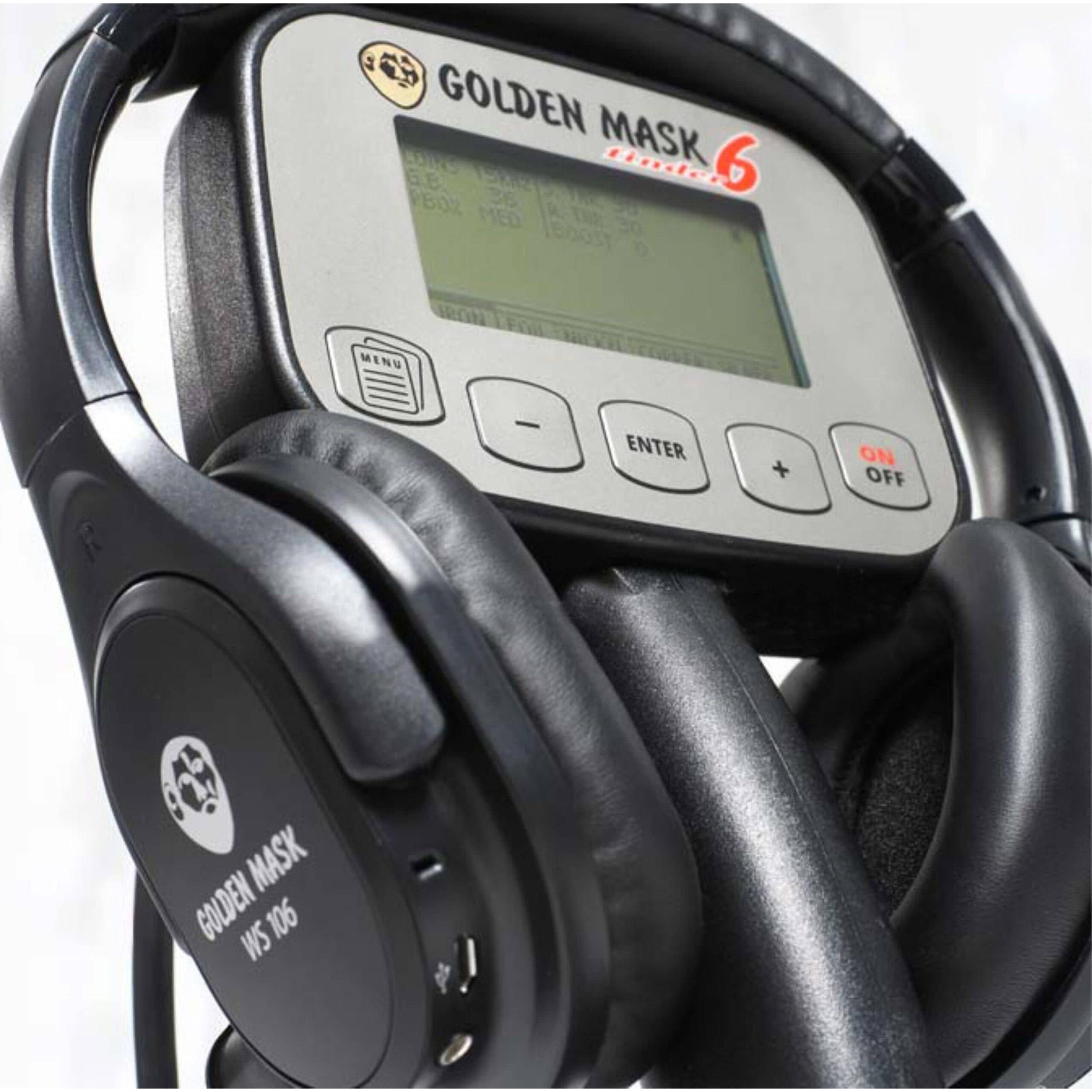Металотърсач Golden Mask 6 с безжични слушалки и зарядно